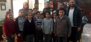İlköğretim okulu öğrencilerinden Emniyet Müdürüne ziyaret