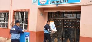 Zile'de okullara geri dönüşüm kutusu