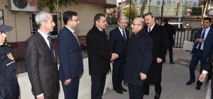 Vali Demirtaş, Hürriyet Polis Merkezi Amirliği'nde incelemede bulundu