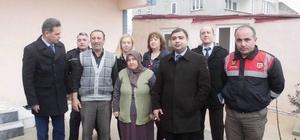 Kaymakam Kızıltoprak şehit ailelerine ziyaretlerini sürdürüyor