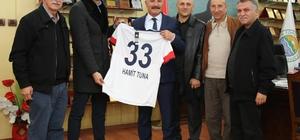 Başkan Tuna, Mersin İdmanyurdu'nun alt yapı hocalarını ağırladı