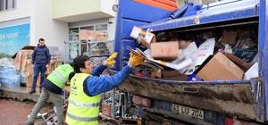 Başiskele'de geri dönüşüm ve atık toplama çalışmaları sürüyor