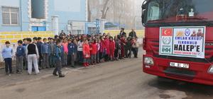Öğrencilerden Haleplilere yardım
