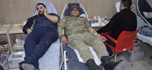 Asker ve vatandaş kan bağışı için seferber oldu