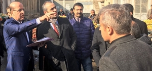Belediye Başkanı Adanur, tarihi alanları ve esnafı ziyaret etti