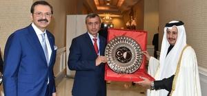 Sorgun TSO Başkanı Arslan'dan Katar Başbakan Yardımcısına ziyaret