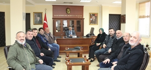Meclis üyelerinden Kaymakam Ada'ya ziyaret