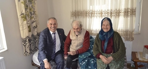 Başkan Yaman'dan hasta ve yaşlılara ziyaret
