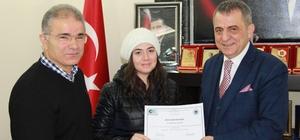 Başkan Sağıroğlu'ndan girişimcilere sertifika