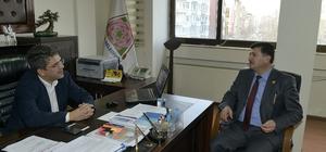 Muhtarlar Konfederasyonu Başkanı Akdeniz'den Isparta Belediyesi'ne ziyaret