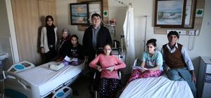 Karnelerini hastanede aldılar