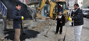 Sorgun Belediyesi bozulan yolları onarıyor