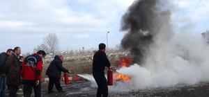 Çavdarhisar Devlet Hastanesi'nde yangın tatbikatı
