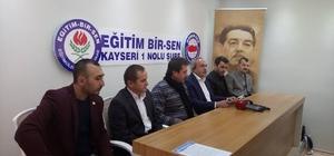 """Eğitim Bir Sen Kayseri Şube Başkanı Aydın Kalkan, """"İyi bir gelecek için yeni bir müfredata ihtiyaç var"""""""