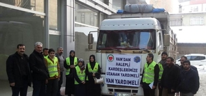 Van'dan Halep'e uzanan yardım eli