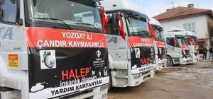Yozgat'tan Haleplilere 5 tır yardım