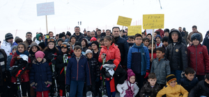 Bitlisli 160 öğrenci ilk kez kayak yaptı