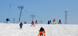 Küpkıran Kayak Merkezi'nde sömestir tatili yoğunluğu