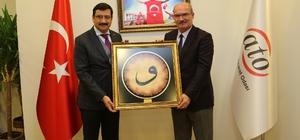 Keçiören Belediye Başkanı Ak'dan ATO'ya ziyaret