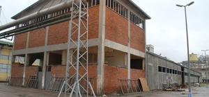 SEKA Fabrika alanında tadilat çalışmaları devam ediyor