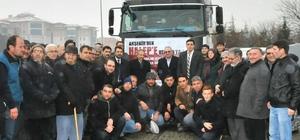 Akşehir'den Halep'e yardım tırı
