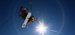 Kayak severler Nemrut'a akın etti