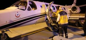 Ambulans uçak umredeki hasta için havalandı