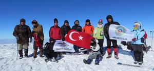 Şehitler anısına Ilgaz Dağı'na tırmandılar
