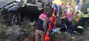 Freni patlayan otomobil şarampole uçtu: 6 yaralı