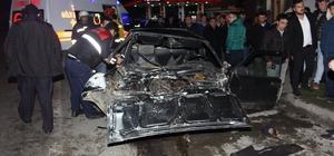 Samsun'da kamyonet, otomobille çarpıştı: 7 yaralı