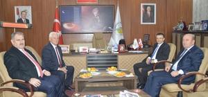 Kaymakam Öztürk'ten Başkan Sarı'ya ziyaret