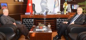Müftü Şimşek'den, Başkan Acar'a ziyaret