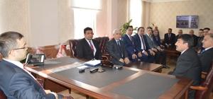 Okul müdürlerinden Kaymakam Öztürk'e ziyaret
