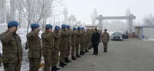 Kaymakam Özkan'dan askerlere ziyaret