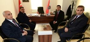 Başkan Gürkan, Battalgazi İlçe Emniyet Müdürü Saruhan'ı ziyaret etti
