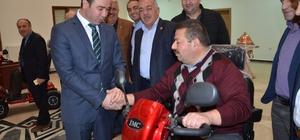 Tokat'ta engellilere akülü tekerlekli sandalye desteği