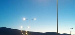 Dicle Elektrik Dağıtım Kurtalan Çevre yolunu aydınlattı