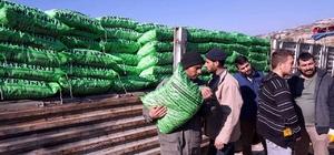 Suriyelilere kışlık malzeme yardımı