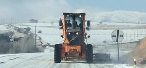 Elazığ'da kar nedeniyle 23 köy yolu ulaşıma kapandı