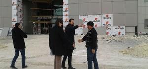 Başhekim Bülbüloğlu yeni hastane inşaatında incelemelerde bulundu