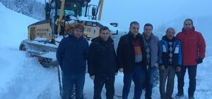 Trabzon'da karla mücadele
