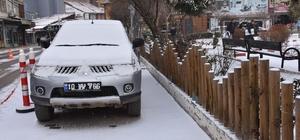 Dursunbey'de Kar Yağışı Yeniden Etkili Oluyor