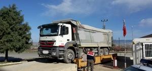 Ağır tonajlı kamyonlara Jandarma denetimi artıyor