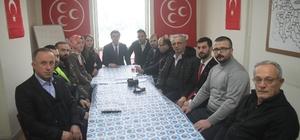 MHP Rize Merkez İlçe Başkanı Kaya basın mensuplarıyla bir araya geldi