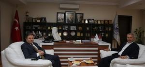 Yeni Emniyet Müdürü Pınarbaşı'ndan Başkan Dişli'ye ziyaret