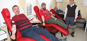 Yozgat'ta basın mensupları kan bağışında bulundu