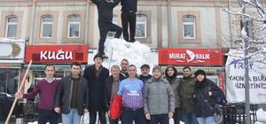 Trabzon'da yoğun kar yağışı