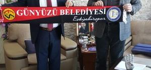 Kızılay Şube Başkanı Girgin'den Günyüzü Belediye Başkanı Arayıt'a ziyaret
