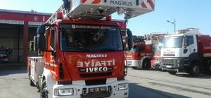 Büyükşehir'den Bandırma'ya 42 metrelik itfaiye aracı