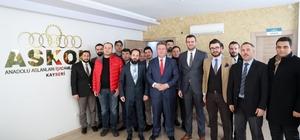 Başkan Palancıoğlu 'Biz Bize' sohbetlerine konuk oldu